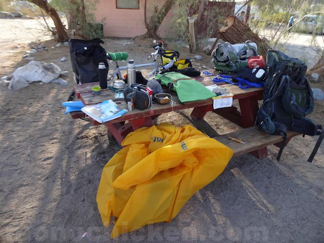 初めての自転車旅 持ちモノ monochicken.com 画像