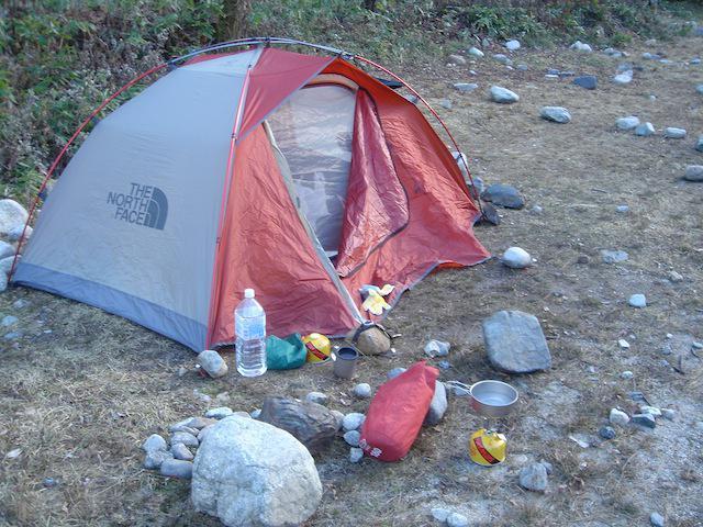 初めてのテント泊登山 monochicken.com 画像
