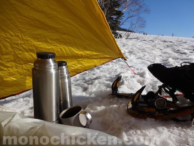 アルパインサーモボトルか山専ボトルか(モンベル mont-bellかサーモス THERMOSか) 登山魔法瓶 画像