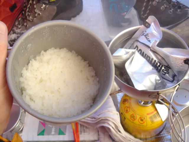 山クッカーを使って超適当炊飯で出来たきのこ飯の美味さ(地上編) 画像