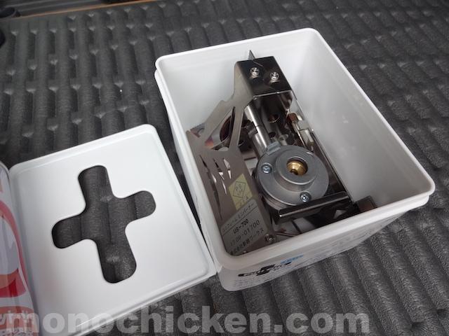 ユニフレーム ミニバーナーUS-700のおすすめジャストサイズ100円ケース 画像