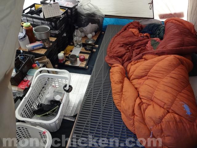 初冬約2ヶ月間のテント暮らし/仕事をしながら過ごす畑脇生活 その1/空間編 標高約600m付近 画像