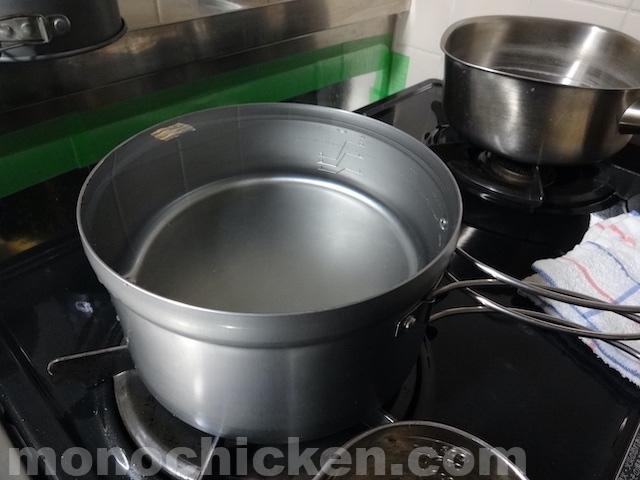 ごはんクッカープラスの「米(合):水」炊飯目盛りをおおよその水量(ml)に換算してみる/ユニフレーム 画像